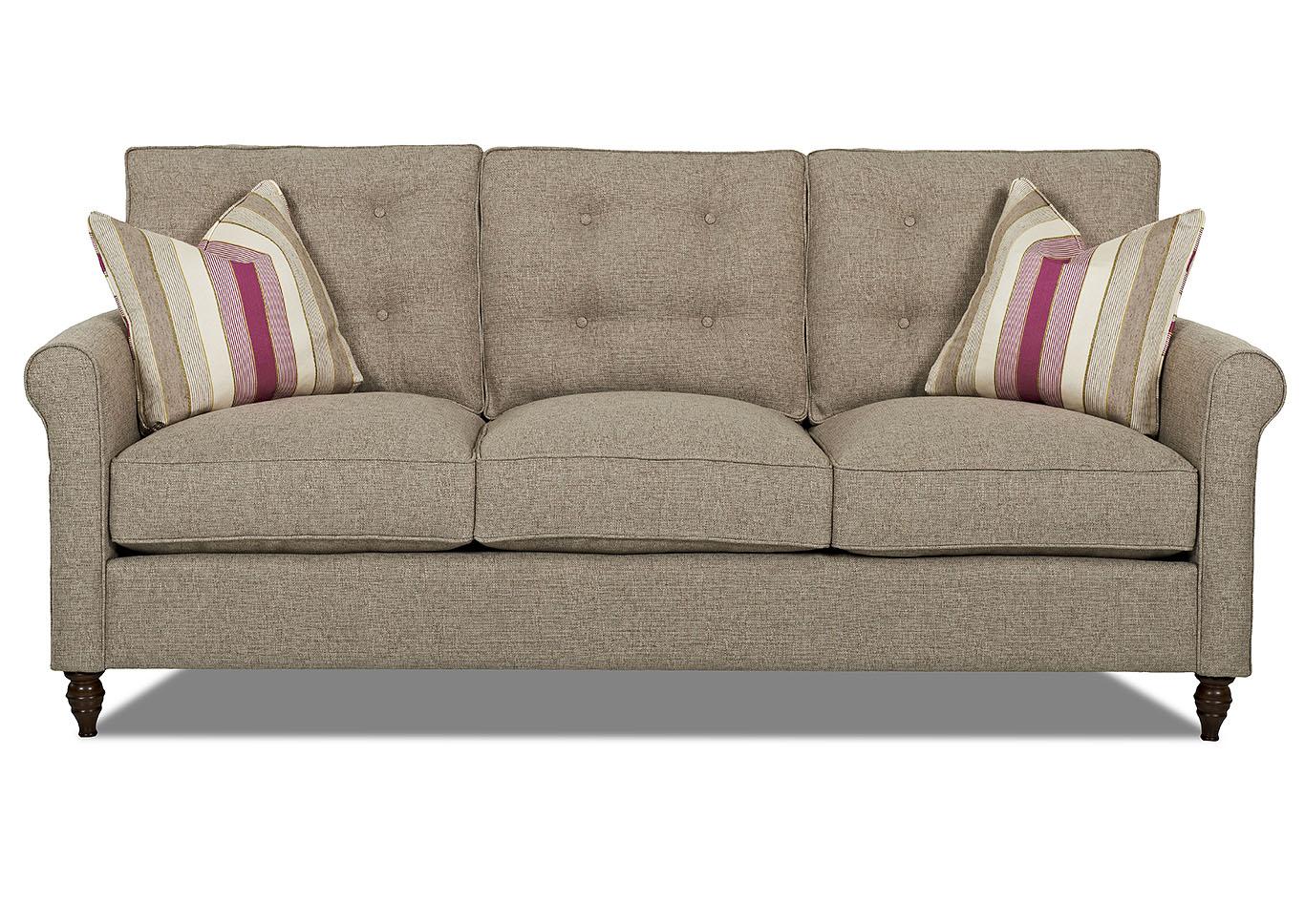 Holland Brown Stationary Fabric Sofa,Klaussner Home Furnishings