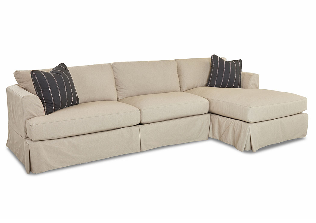 Bentley Durham Beige Stationary Fabric Sectional,Klaussner Home Furnishings