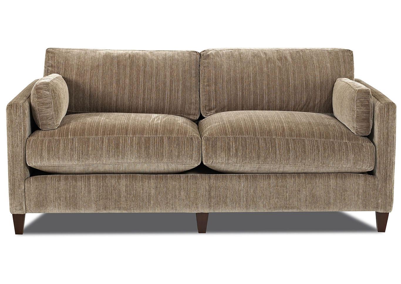 Superb Jordan Aria Stone Stationary Fabric Sofa,Klaussner Home Furnishings