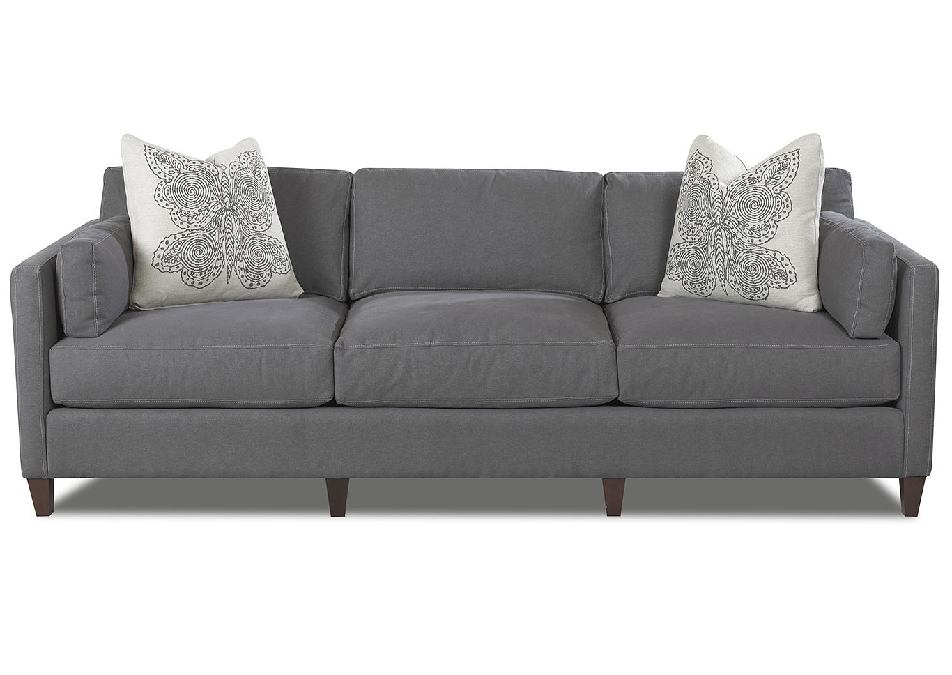 Genial Jordan Classic Gray Stationary Fabric Sofa,Klaussner Home Furnishings