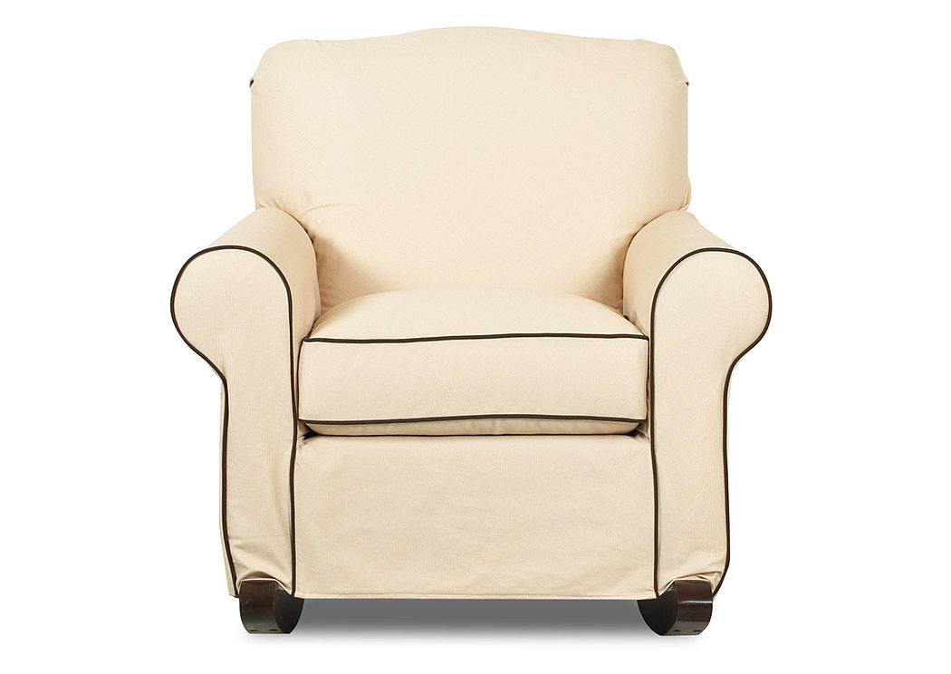 Old Town White Oatmeal Rocking Fabric Chair In Your Home
