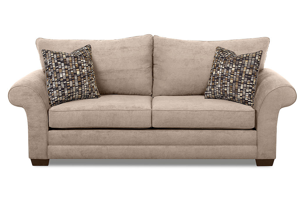 Holly Willow Smoke Brown Stationary Fabric Sofa,Klaussner Home Furnishings