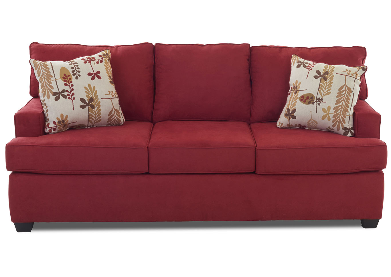 Hornell Furniture Outlet Cruze Red Stationary Fabric Sofa