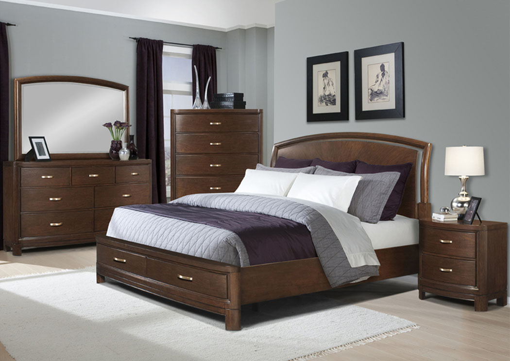 Eclipse Queen Bed, Dresser, Mirror & Chest,Klaussner Home Furnishings