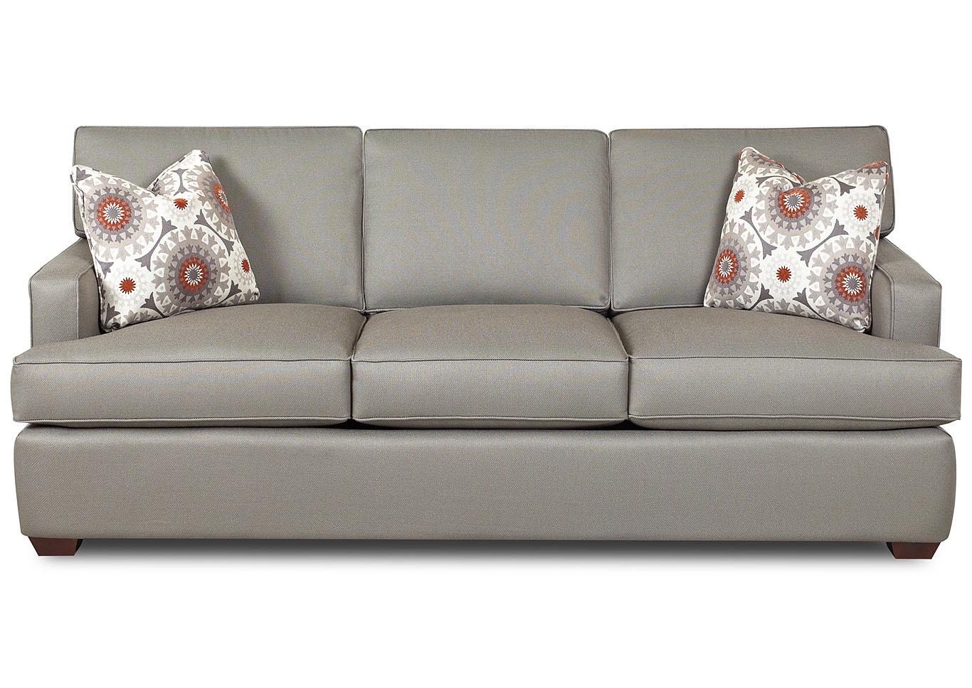 Loomis smoke gray stationary fabric sofaklaussner home furnishings