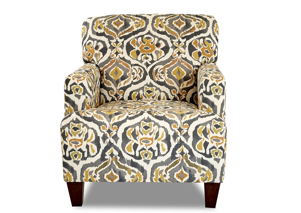 Tanner Margot Goldenrod Stationary Fabric Chair,Klaussner Home Furnishings