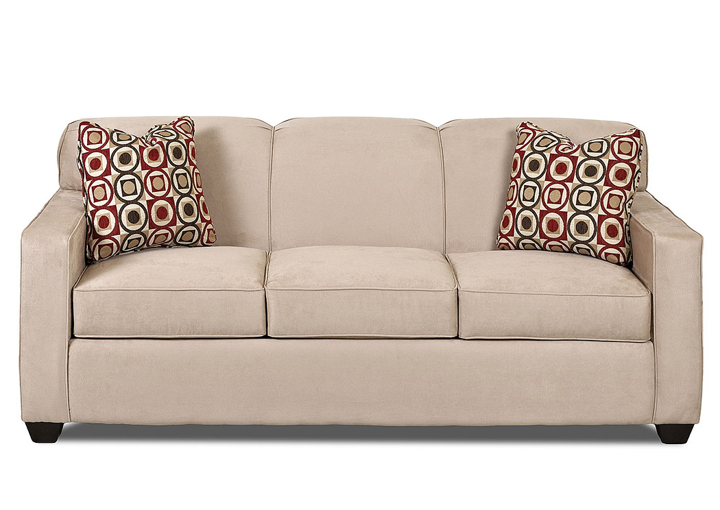 Gillis Microsuede Khaki Fabric Sleeper Sofa,Klaussner Home Furnishings
