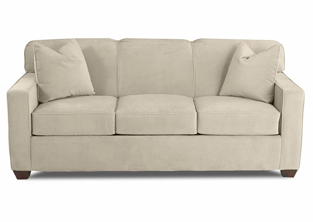 Gillis Microsuede Oyster Fabric Sleeper Sofa,Klaussner Home Furnishings