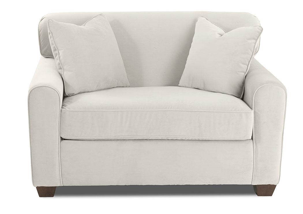 Zuma Lily Sand Sleeper Fabric Chair,Klaussner Home Furnishings