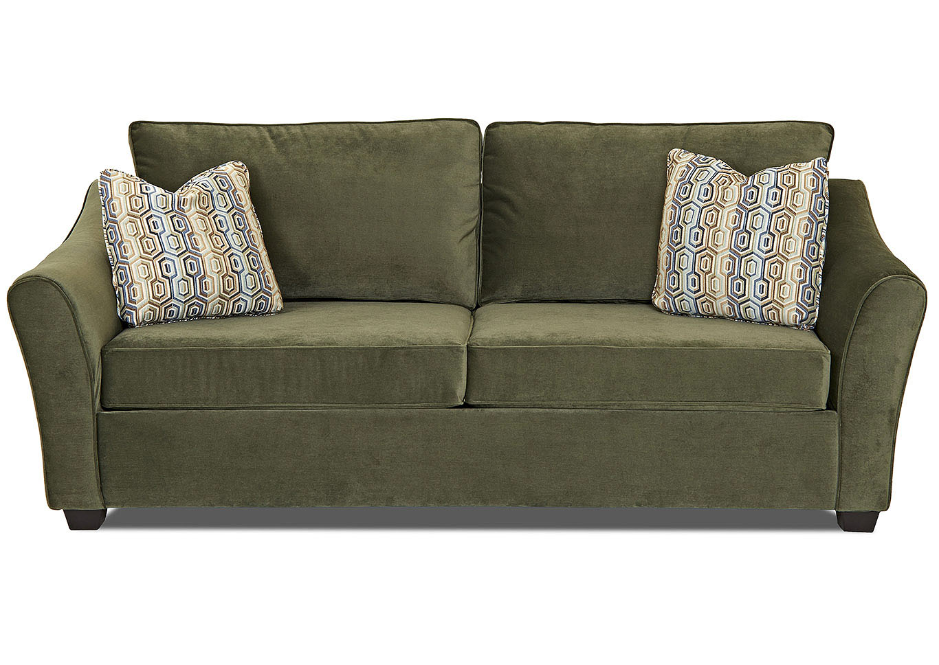 Just Furniture Linville Moss Green Stationary Fabric Sofa