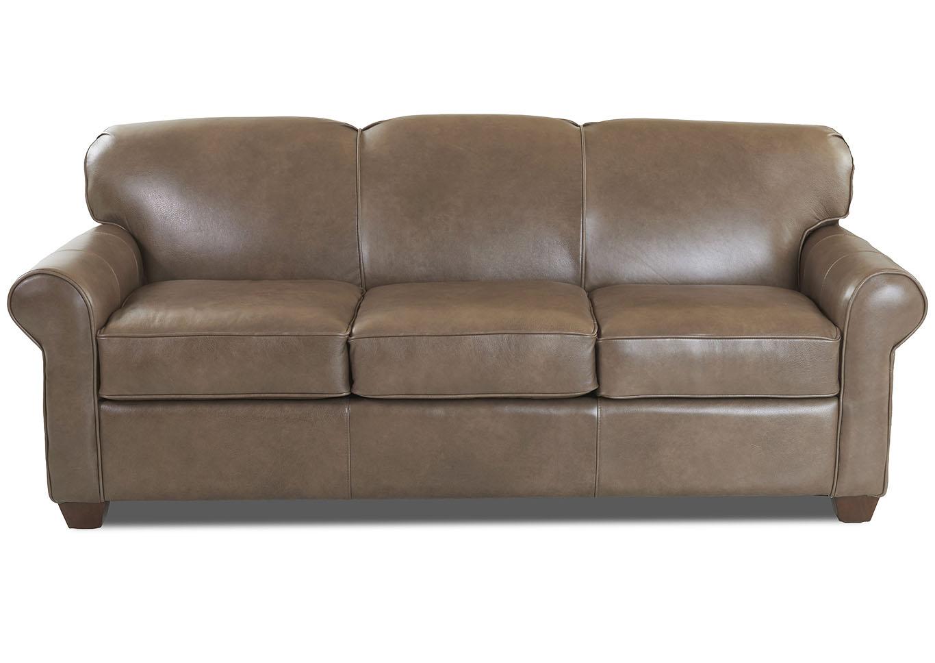 - Mayhew Brown Leather Sleeper Sofa Weiss Furniture