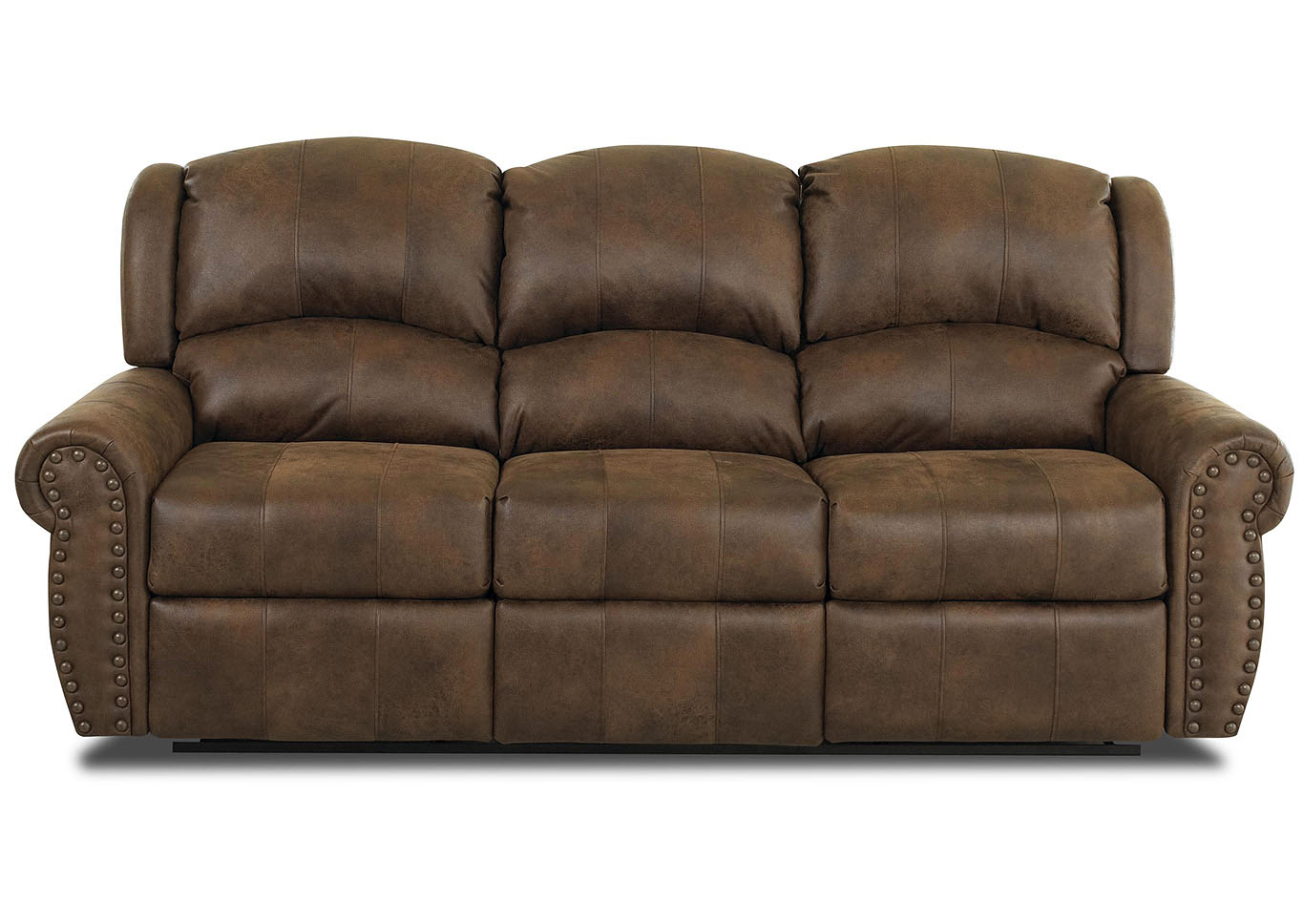 - Mcalister Rust Brown Reclining Fabric & Leather Sofa Best Buy