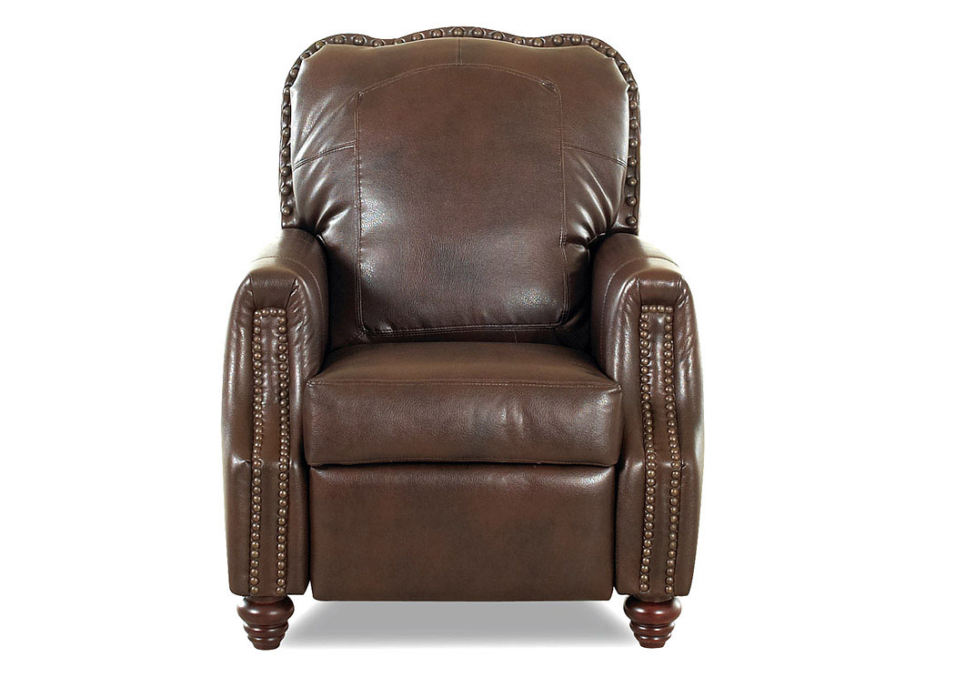 Gabby Avatar Tobacco Reclining Fabric U0026 Leather Chair,Klaussner Home  Furnishings