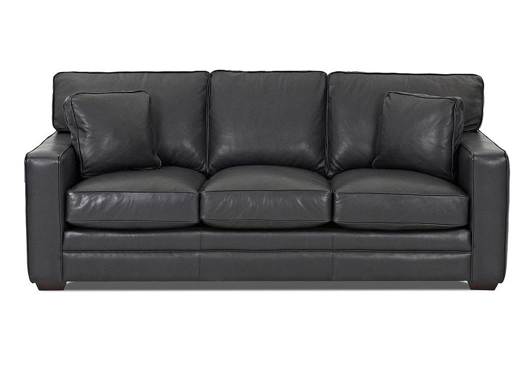 Wondrous Do Furniture Homestead Pony Carbon Black Leather Stationary Sofa Machost Co Dining Chair Design Ideas Machostcouk