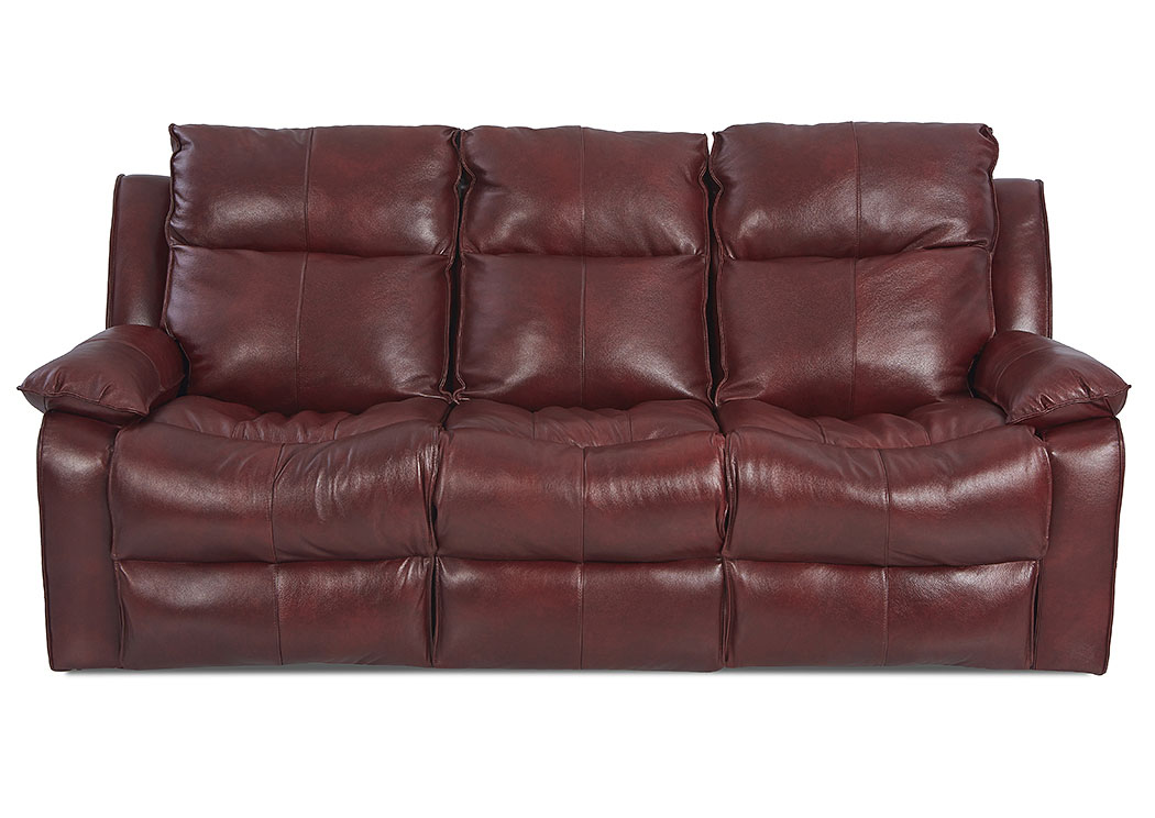 Beau Castaway Aspen Grenadine Power Reclining Leather Sofa,Klaussner Home  Furnishings