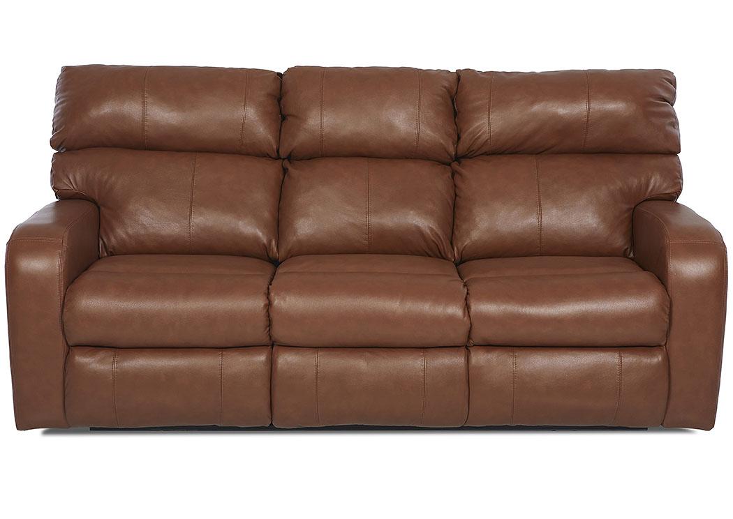 Bradford Acorn Brown Power Reclining Fabric U0026 Leather Sofa,Klaussner Home  Furnishings