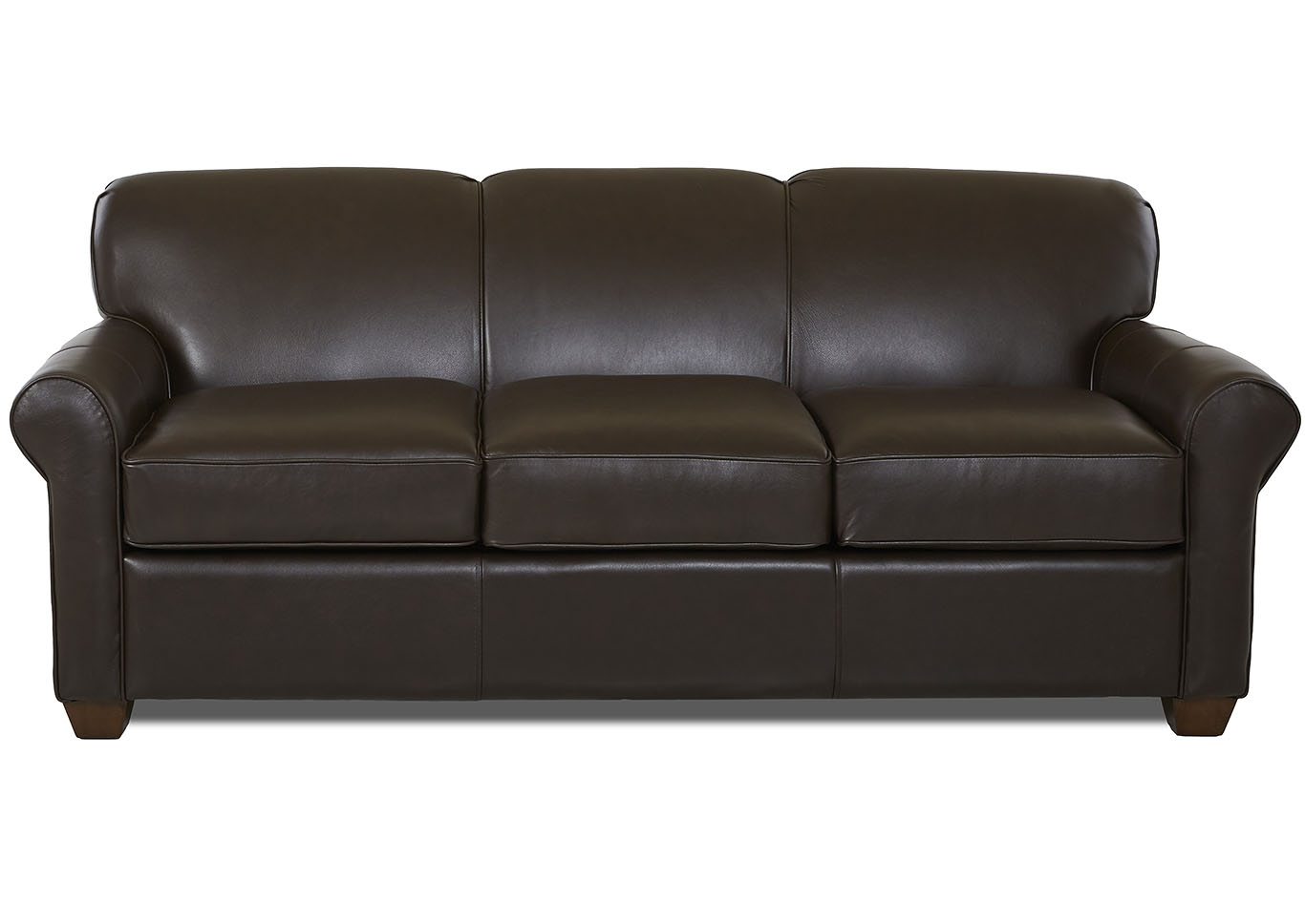 Beau Mayhew Durango Expresso Brown Leather Sleeper Sofa,Klaussner Home  Furnishings
