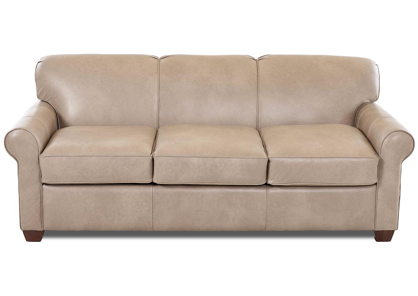 Sofas 2 Furnishings Mayhew Steamboat Putty Brown Leather Sleeper Sofa