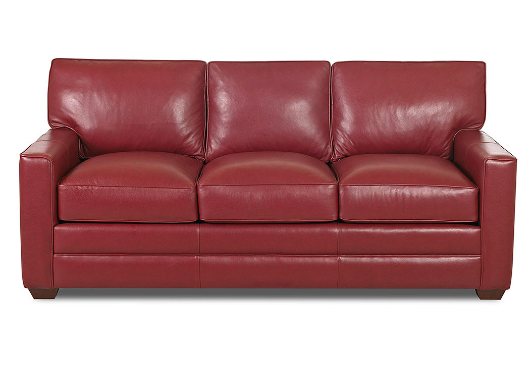 Red brick furniture Redbrick Mill Pantego Red Leather Stationary Sofaklaussner Home Furnishings Antiqueslcom The Old Brick Furniture Company Pantego Red Leather Stationary Sofa