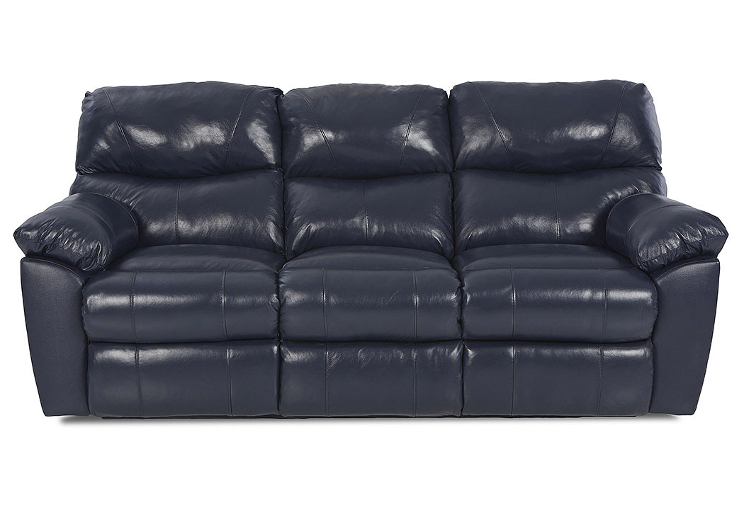 Odessa Black Reclining Leather U0026 Vinyl Sofa,Klaussner Home Furnishings