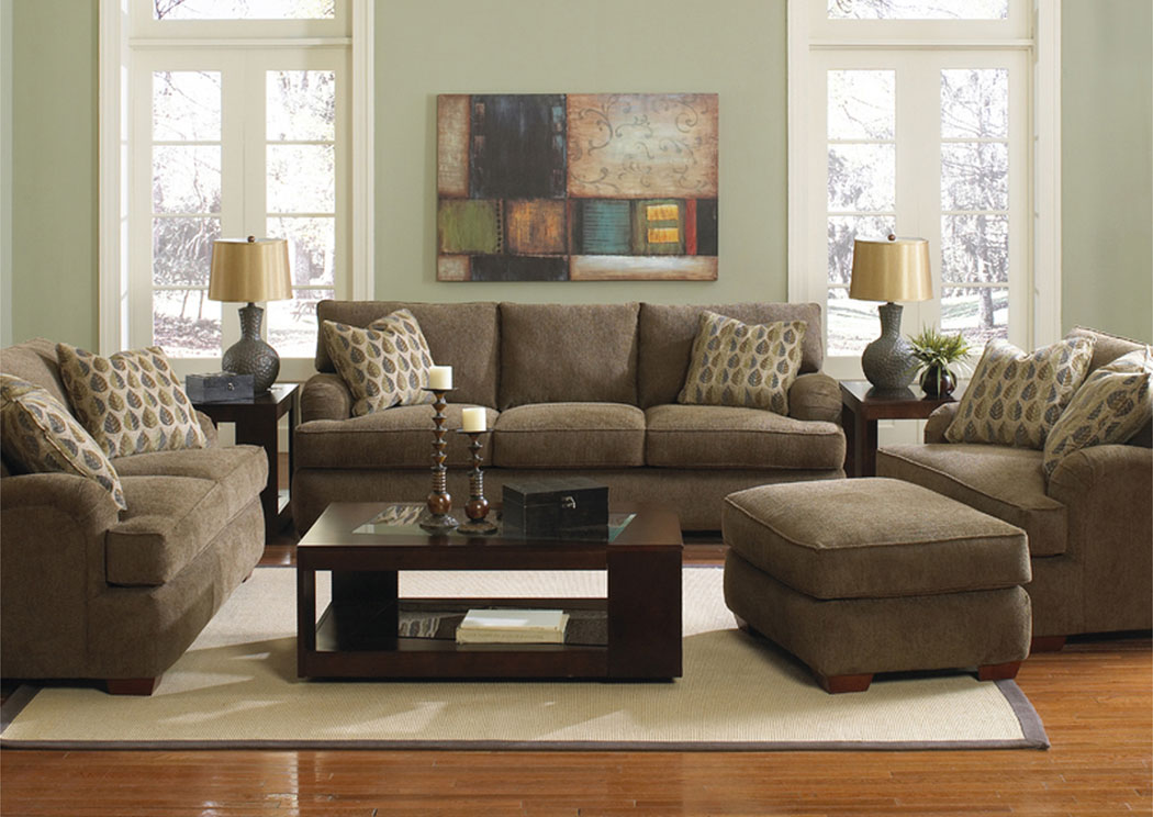 Vaughn Bark Sofa & Loveseat,Klaussner Home Furnishings