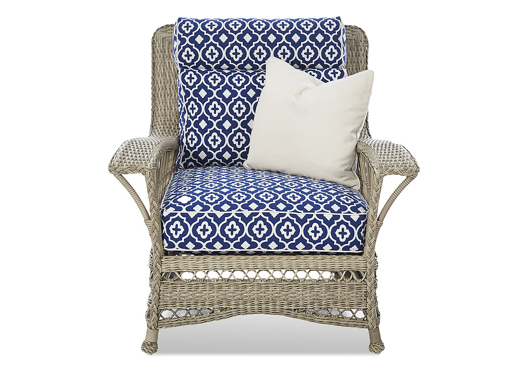 Willow Quatrefoil Royalty Stationary Fabric Chair,Klaussner Home Furnishings