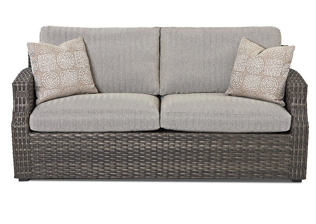 Cascade Gray Stationary Fabric Sofa,Klaussner Home Furnishings