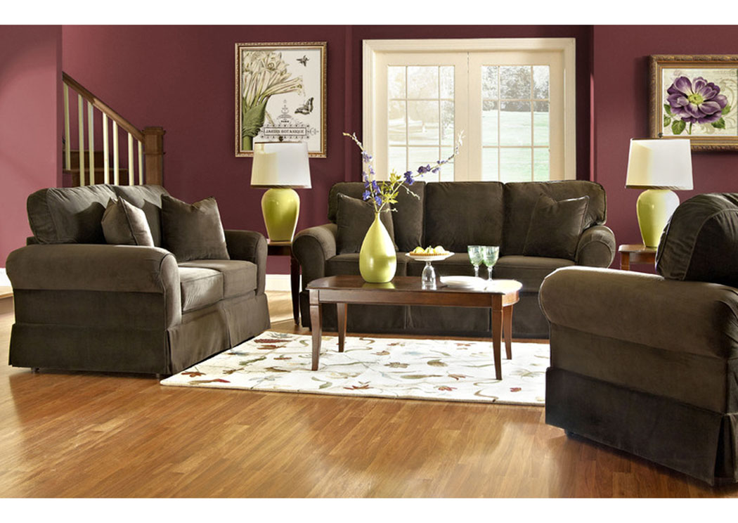 Woodwin Chocolate Sofa,Klaussner Home Furnishings