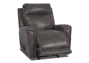 Priest Slate Fabric Reclining Glider Chair