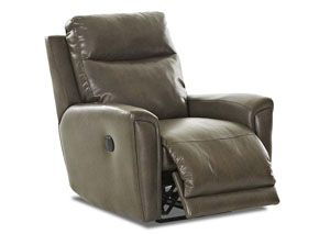 Priest Beige Fabric & Leather Reclining Chair