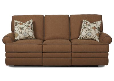 Belleview Rich Brown Power Reclining Fabric Sofa