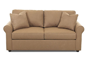 Image for Brighton Hilo Rattan Sleeper Fabric Sofa