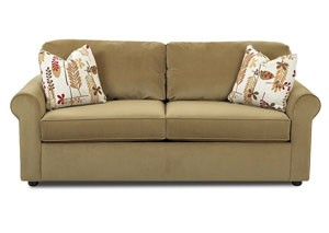 Image for Brighton Light Brown Sleeper Fabric Sofa