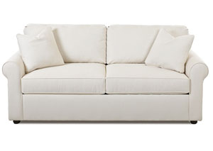 Image for Brighton  White Sleeper Fabric Sofa