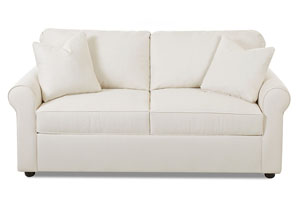 Image for Brighton Bull Natural White Sleeper Fabric Sofa