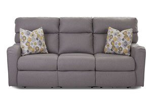 Axis Pewter Power Reclining Fabric Sofa