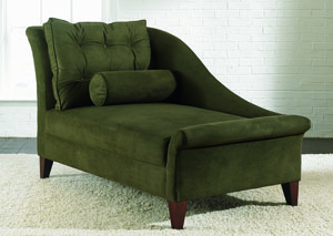 Lincoln Olive Stationary Fabric Chaise