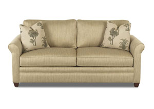 Dopler Flax Brown Fabric Sleeper Sofa