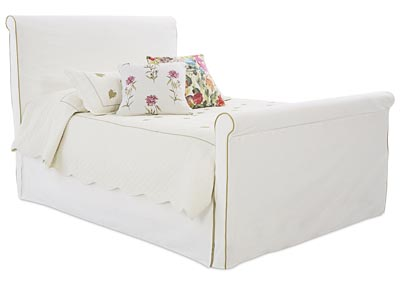 Image for Midland White Fabric King Bed