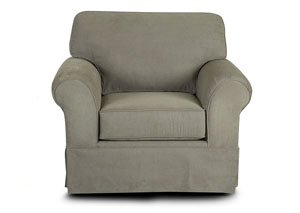 Woodwin Stone Gray Stationary Fabric Chair