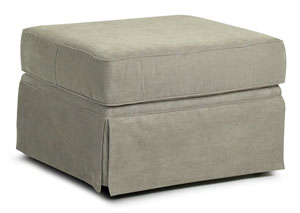 Woodwin Stone Gray Stationary Fabric Ottoman