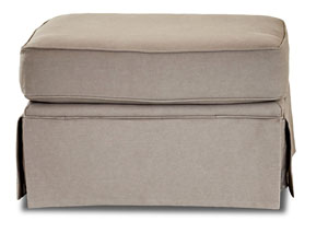 Woodwin Classic Smoke Brown Stationary Fabric Ottoman