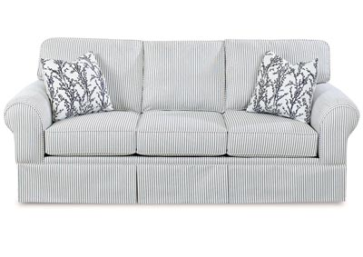 Woodwin Adrift Striped Stationary Fabric Sofa