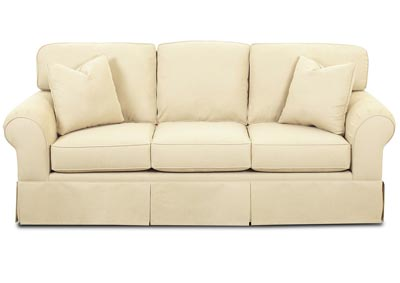 Woodwin Tan Fabric Sofa