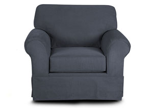 Woodwin Landers Gunmetal Stationary Fabric Chair