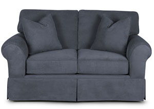 Woodwin Landers Gunmetal Stationary Fabric Loveseat
