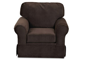 Woodwin Nina Chocolate Stationary Fabric Chair