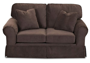 Woodwin Nina Chocolate Stationary Fabric Loveseat
