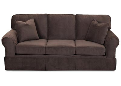 Woodwin Brown Fabric Sofa
