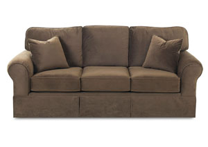 Woodwin Brughes Chocolate Stationary Fabric Sofa
